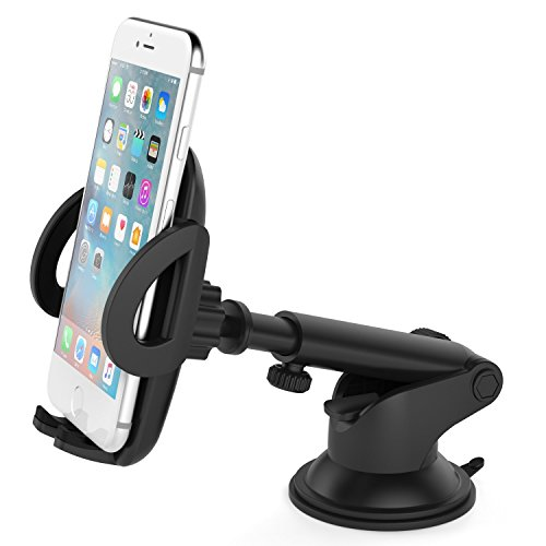 Vantrue Car Mount Phone Holder with telescoping Long Arm Quick Release Button for iPhone 8/8Plus/7Plus/7/6S Plus/6Plus/6S/6/5S, Galaxy S8/S7Edge/S7/S6/S6Edge, Note8/5/4, Google Pixel XL Nexus 6 6P 5X