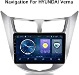 XXRUG Android 8.1 autoradio Sistema di Navigazione GPS per Hyundai Accent/Verna 2012-2017 9 Pollici Schermo Full Touch Multimedia Player Radio BT FM AM Dab USB AUX Specchio Link