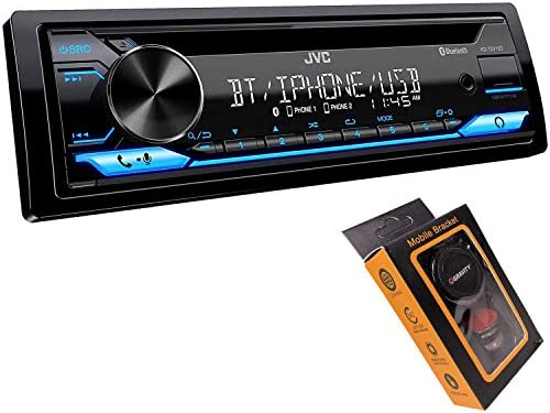 JVC KD TD71BT Bluetooth Car Stereo Receiver with USB Port AM FM Radio CD and MP3 Player Amazon product image