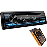 JVC KD-TD71BT Bluetooth Car Stereo Receiver with USB Port – AM/FM Radio, CD and MP3 Player, Amazon Alexa Enabled - 13-Digit LCD Dual-Line Display - Single DIN – 13-Band EQ (Black)