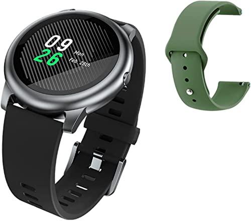 PKLG Reloj inteligente de los hombres de las mujeres ES ejercicio ejercicio salud Tracker calorías ritmo cardíaco monitor del sueño podómetro IP68 impermeable Ios Android versión global (F)