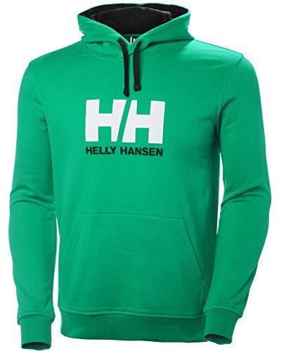 Helly Hansen Logo Hoodie Sudadera Con Capucha, Hombre, verde, S