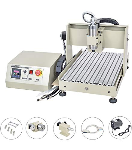 CNC 3040 Router-Maschine, Desktop-Mini-Stich Mill Maschine mit USB 4 Achsen, DIY Carve Drilling 40x30x8cm Cutting Arbeitsbereich,2200w