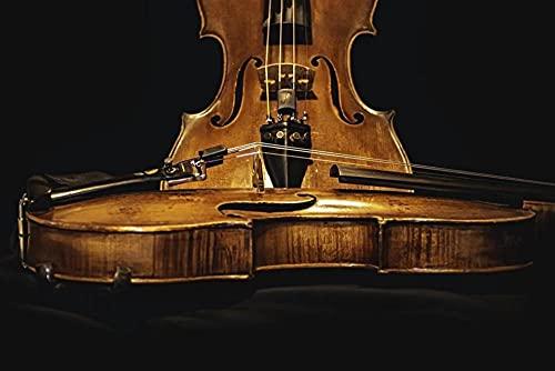 FFCLZ Instrumento Musical de violín Puzzles,Jigsaw Puzzle,Adult Green Wooden Puzzle/Rompecabezas para Adultos/Puzzle 500 Piezas