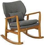 Christopher Knight Home Benny Mid-Century Modern Fabric Rocking Chair, Grey / Light Walnut