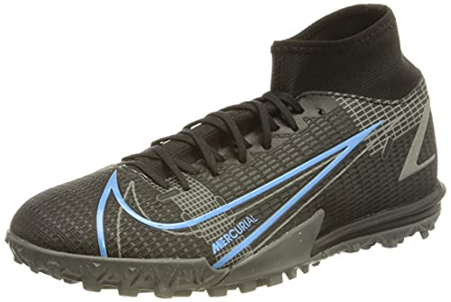 Nike Unisex Mercurial Superfly 8 Academy TF Fussballschuh, Black/Black-Iron Grey, 45 EU