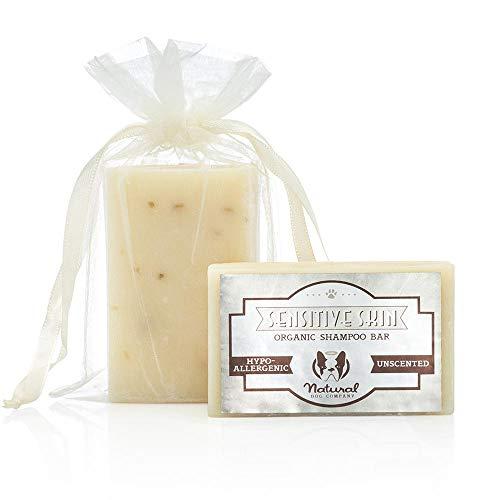 Natural Dog Company   Sensitive Skin Shampoo Bar   Natürliche Heilung für empfindliche Haut   biologisch und vegan.