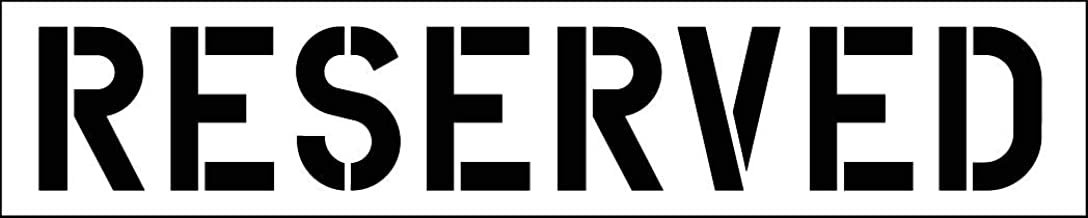 HY-KO Products PLS-64 Reserved Parking Lot Stencil, 12