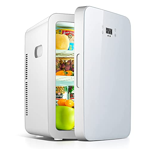 GWFVA Mini refrigerador para automóvil, refrigerador para el Cuidado de la Piel de 25 litros para Dormitorio, con Panel de Control de Temperatura Mejorado, congelador portátil para vehículos, Camp