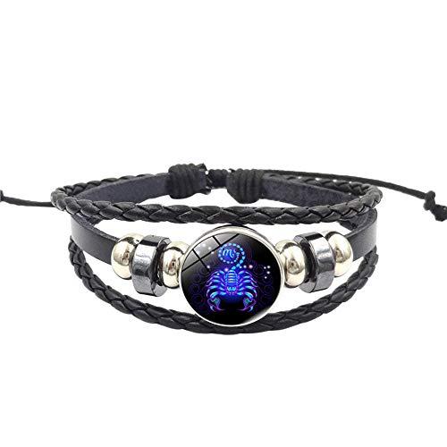 UINGKID Damen-Armband Charm Kreative Stilvolle Mode Frauen Sternbild Sternzeichen Anhänger Mehrschichtige Handgemachte L