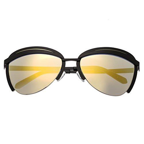Bertha Aubree Polarisierte Sonnenbrille für Damen, BRSBR017B, Schwarz, BRSBR017B