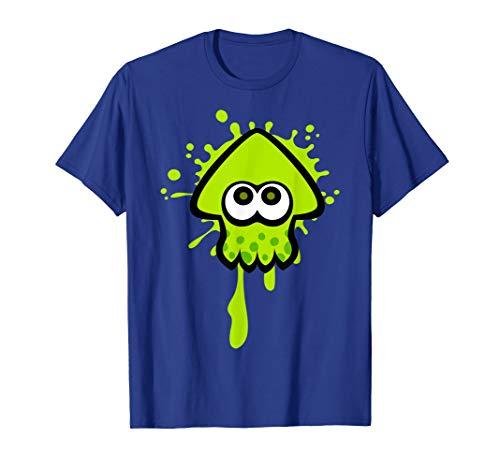Nintendo Splatoon Green Inkling Squid Splat Graphic T-Shirt T-Shirt
