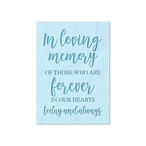 Stencil Stop in Loving Memory Stencil - Reusable for DIY Projects, Painting, Drawing, Crafts - 14 Mil Mylar Plastic (4 x 6 inches)