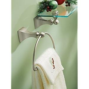 Moen DN8386BN Retreat Bathroom Towel Ring, Brushed Nickel