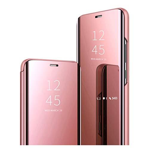 20-Daniei Clear View Standing Cover für das Samsung Galaxy S8, kompatibel mit Galaxy S8, Spiegel Handyhülle Schutzhülle Flip Cover Schutz Tasche mit Standfunktion 360 Grad hülle für Galaxy S8 (5)