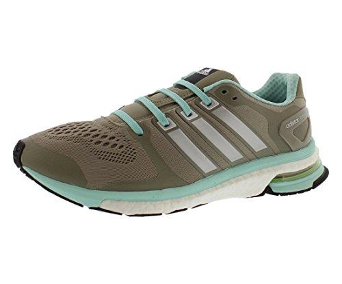 adidas Adistar Boost ESM Womens Running Shoe, Taupe/Mint, 8.5