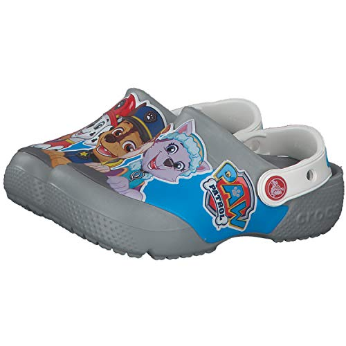 Crocs Fun Lab Paw Patrol Clog Kids, Zuecos Unisex Niños, Gris (Light Grey 007), 33/34 EU