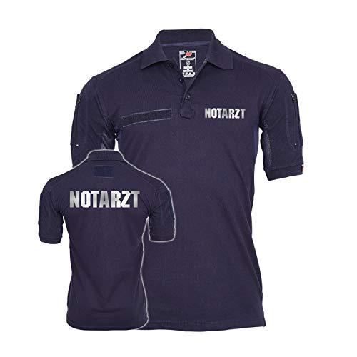 Copytec Tactical Polo Notarzt reflektierend Dr Arzt Krankenhaus Rettungsdienst Sanitäter Hemd Bekleidung Krankenwagen #23443, Größe:XL, Farbe:Dunkelblau