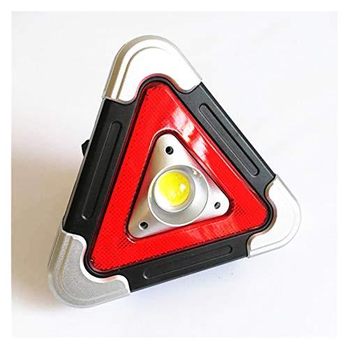 HUAZHUANG-Home Señal de Emergencia de múltiples Funciones multifunción, lámpara LED, lámpara de Emergencia, Signo de Emergencia del triángulo, señal de Advertencia (Color : Gray)