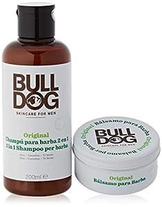 BULLDOG SECURITY Cuidado Facial para Hombres - Kit Rutina Cuidado de Barba Larga, Champú & Acondicionador de Barba 200 ml + Bálsamo para Barba 75 ml