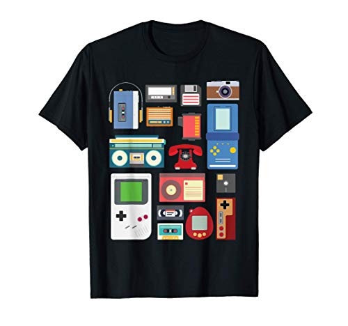 Retro / Vintage 90's Technology Old Gadgets Gift v2 T-Shirt
