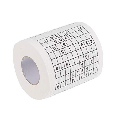 Ounona Sudoku - Rotolo di carta igienica stampata, motivo: scherzi
