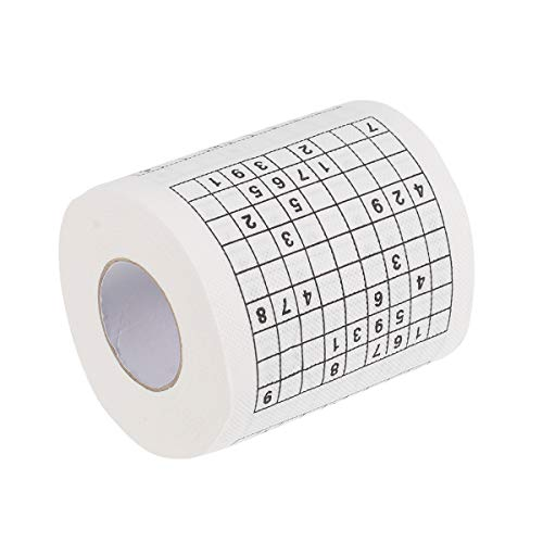 OUNONA Sudoku - Rollo de papel higiénico impreso para bromas