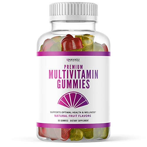 Havasu Nutrition Multivitamin Gummies for Men and Women with Vitamin A, C, D3, E, B6, B12, and Zinc, 60 Count (60 Count, Adult)