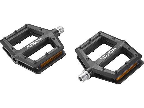 Voxom MTB Flat Pedale Pe23 schwarz, Kunststoff-Körper, 7mm Boron-Achse, Industriellager, VP-538, m