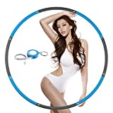 NEOWEEK Hoola Hoop for Adults,Weighted Hoola Hoop for Exercise-2lb,8 Section Detachable Design-Professional Soft Fitness Hoola Hoop(Blue-Gray)