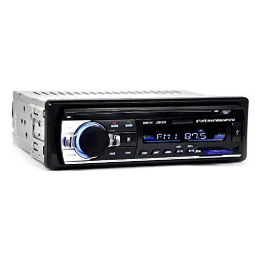 Bansd Receptor de entrada auxiliar FM estéreo para coche de 12 V, carga rápida, llamada manos libres, radio remota para con reproductor MP3 USB y Bluetooth 4.2, compatible con teléfonos IOS y Android