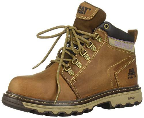 Caterpillar Women's Ellie Steel Toe Work Boot, Dark Beige, 8 M US