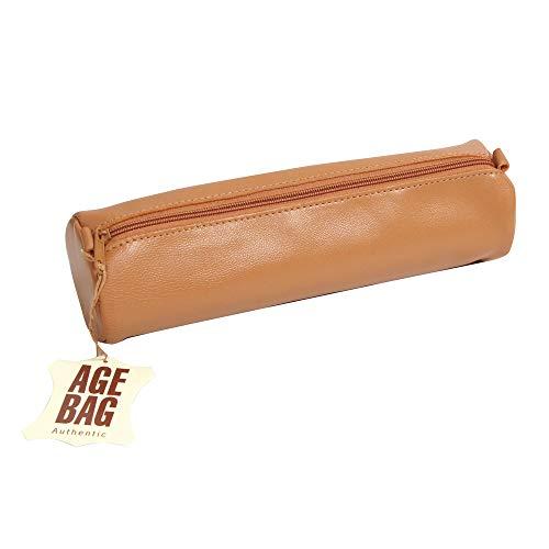 Clairefontaine 77017C Schlamperm Age Bag (rund groß, 21 x 6 cm) 1 Stück braun