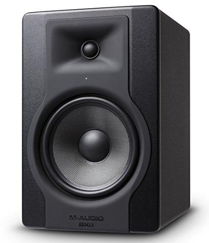 M-Audio BX8 D3 - Altoparlante professionale professionale per monitor da studio a 2 vie per produzione musicale e missaggio con controllo dello spazio acustico incorporato, 1 pezzo