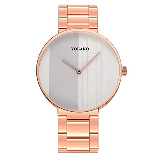 Relojes Para Mujer Reloj elegante minimalista calendario de acero inoxidable cinturón de malla de las señoras reloj de cuarzo reloj de pulsera regalo de reloj Relojes Decorativos Casuales Para Niñas D
