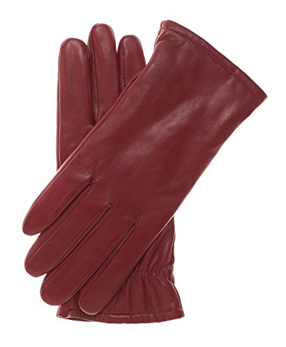 Pratt and Hart Women's Classic Thinsulate Lined Leather Gloves Size 7 1/2 Color Red