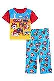 Nickelodeon Boys' Paw Patrol 2-Piece Pajama Set, Rescue HQ, 18M