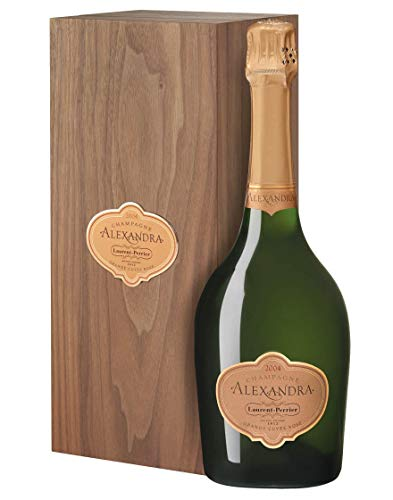 Champagne Brut AOC Grande Cuvée Rosé Brut Alexandra Laurent-Perrier 2004 0,75 L, Cassetta di legno