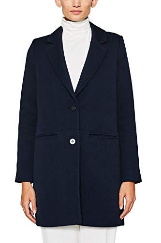 edc by ESPRIT Damen 087CC1G011 Mantel, Blau (Navy 400), X-Large