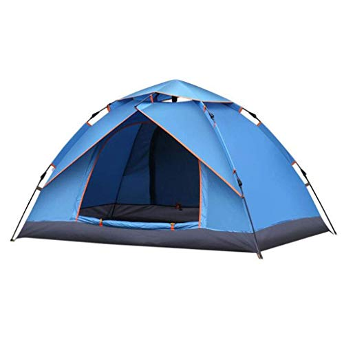 Busirsiz Tienda portable azul unisex al aire libre con impermeable diseño de la tela Acampar Ocio y viaje con parasol cubierta de la lluvia (Color: 6306220090) Fácil de instalar, adecuado para al aire
