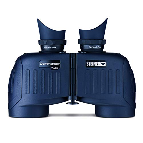 Steiner Commander 7x50 marine binoculars - Water pressure proof up to 10m, 145m field of view, razor sharp images - Top class for the highest ambitions on water