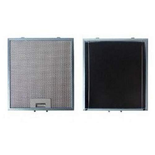 Metalen filter tegen vet (afzonderlijk) + kolen 303 x 278 mm voor afzuigkap Brandt, Fagor, Sauter (97625)