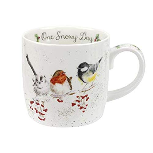Portmeirion Home & Gifts One Snowy Day Tasse, Knochenporzellan, Mehrfarbig, 8.5 x 12 x 8 cm
