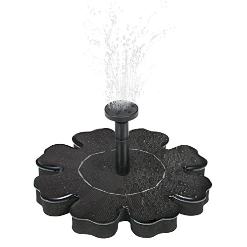 Solar Fountain,Mini Garden Water Pump,Outdoor Floating Fountain Pond,Solar Powered Bird Bath Fountain Pump,1.4W Solar Panel Kit Water Submersible Pump for Pond, Pool, Garden, Fish Tank, Aquarium