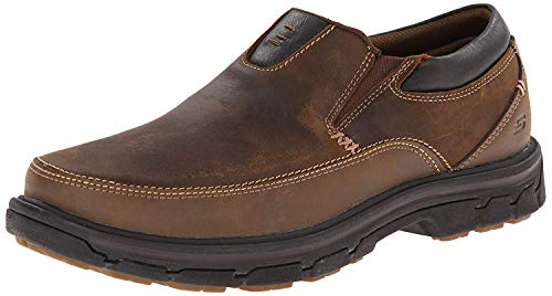 Skechers USA Men's Segment The Search Slip On Loafer, Dark Brown, 11 M US