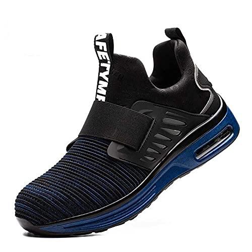 Verano Anti-aplastamiento Anti-Puncture Bolsa de Acero Cabeza de Trabajo de Trabajo,Resistente al Desgaste,Aire Acondicionado de Amortiguador Zapatos de Trabajo de Seguridad Zapatos-1_43