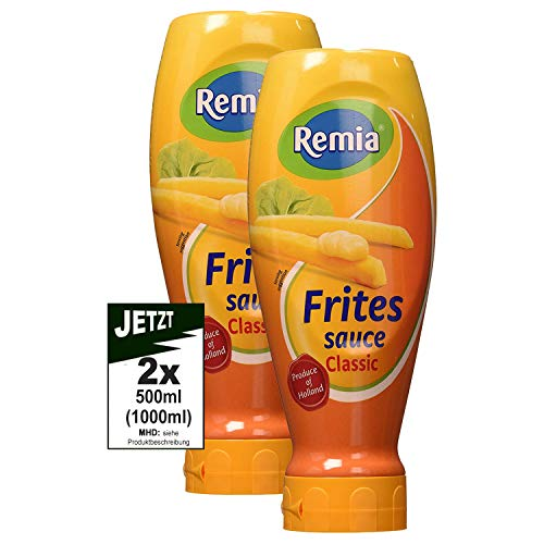 Remia Frites Saus CLASSIC Topdown 2x 500ml (1000ml) - Fritten Sauce, Pommes Creme, Mayo