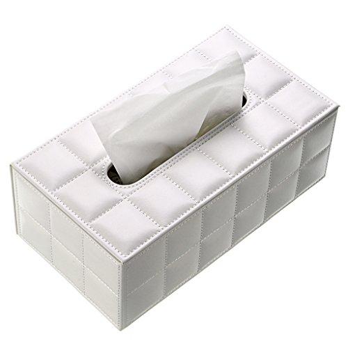 Caja de papel de seda BTSKY, sintética, para oficina, rectangular, diseño elegante y bonito, color blanco, decoración de casa