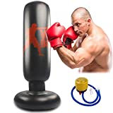 Aquarius CiCi Inflatable Punching Heavy Tower Bag MMA Target Boxing Bag with Foot Pump Freestanding Kickboxing Bags for Kids Adults Fitness