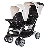 Baby Trend Sit N' Stand Compact Easy Fold Unisex Toddler Baby Double Tandem Stroller Convertible Travel System for Newborns and Toddlers, Modern Khaki